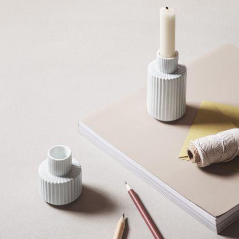 Lyngby Kerzenständer Weiß Porzellan 11 cm