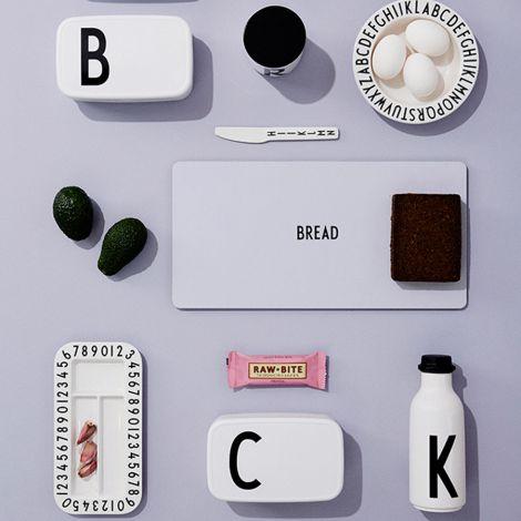 Design Letters Melamin Teller AJ Vintage ABC White