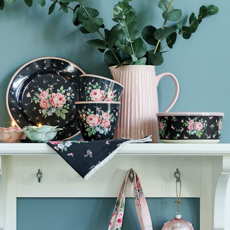 GreenGate Latte Cup Becher Marley Dark Grey