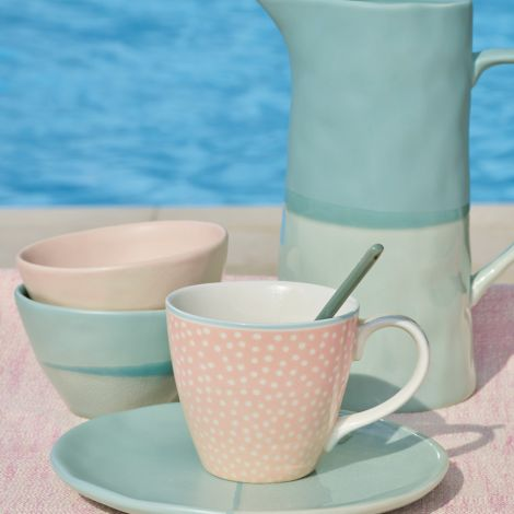 GreenGate Tasse Dot Peach •