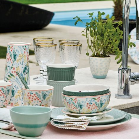 GreenGate Latte Cup Becher Alice Dusty Green