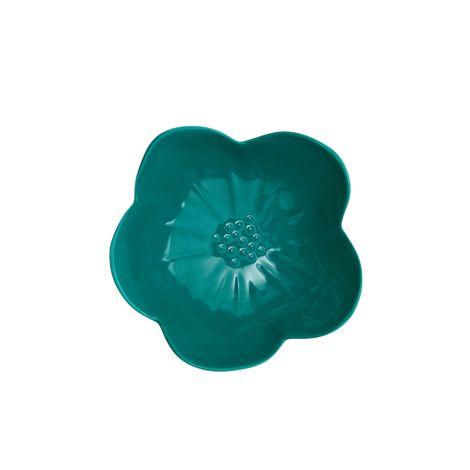 Rice Melamin Schüssel in Blütenform Dark Green