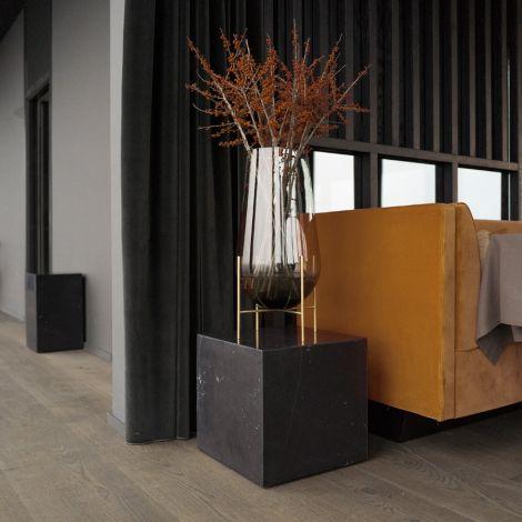 Menu Plinth Tisch Cubic Black Marquina Marble