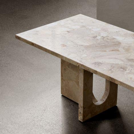 Menu Androgyne Lounge Tisch 120x45 cm Sand/Sand