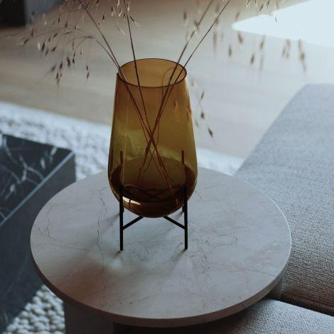Menu Echasse Vase S Amber/Bronzed Brass