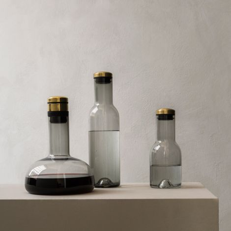 Menu Bottle Karaffe 1 L Clear/Steel