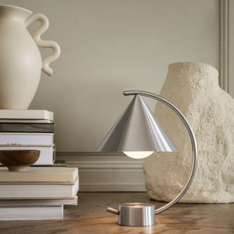 ferm LIVING Lampe Meridian Brushed Steel