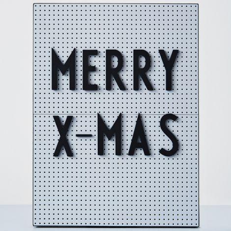 Design Letters Großes Buchstaben-Set für Messageboard Black - 132 Teile •