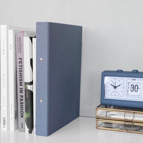 Monograph by House Doctor Wecker mit Kalender Retro Blue