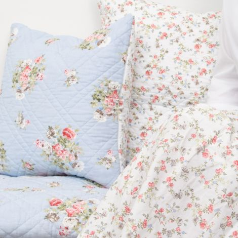GreenGate Quilt Tagesdecke Petricia Pale Blue 140x220cm