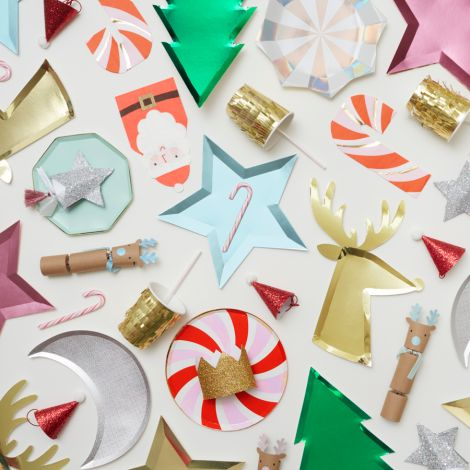 Meri Meri Torten-Deko Gold Acrylic Reindeer 3er-Set