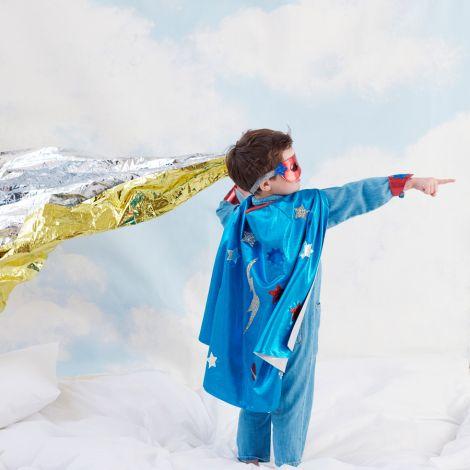 Meri Meri Verkleidungsset Blauer Superheld