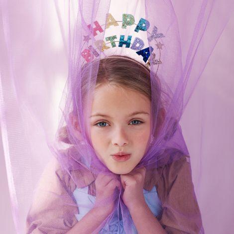 Meri Meri Haarreif Happy Birthday Glitzer