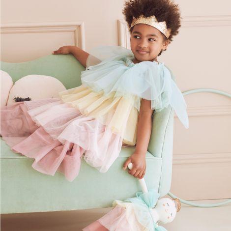 Meri Meri Puppe Regenbogen Rüschen Prinzessin