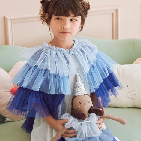 Meri Meri Puppe Blaue Rüschen Prinzessin