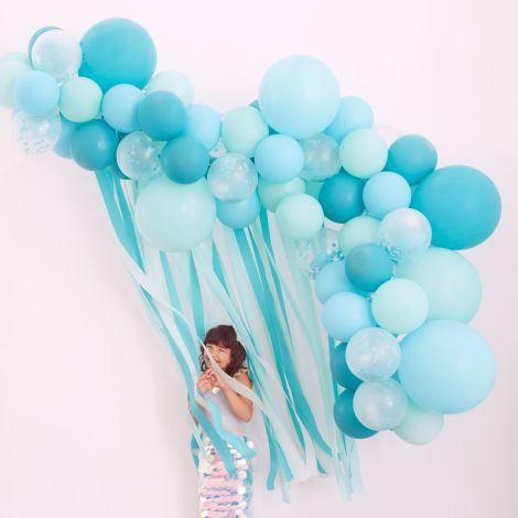 Meri Meri Party-Deko Ballons und Luftschlangen Blau 52-teilig
