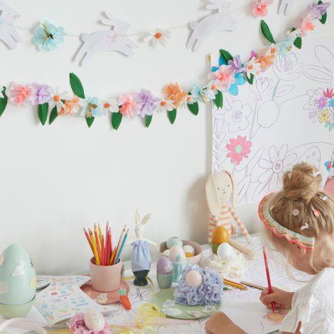 Meri Meri Girlande Ostern Häschen & Blumen