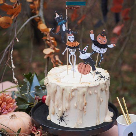 Meri Meri Deko Halloween Honeycomb Kürbis