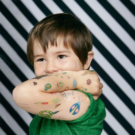 Meri Meri Temporäre Tattoos Weihnachtsmann Rentier