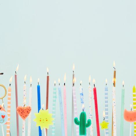 Meri Meri Kerzen Geburtstag Blau