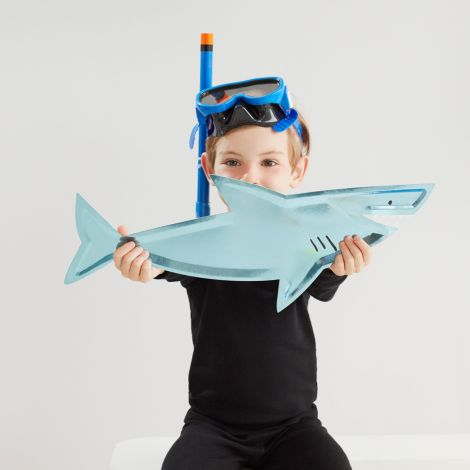Meri Meri Servier-Pappteller Shark 4 Stk.