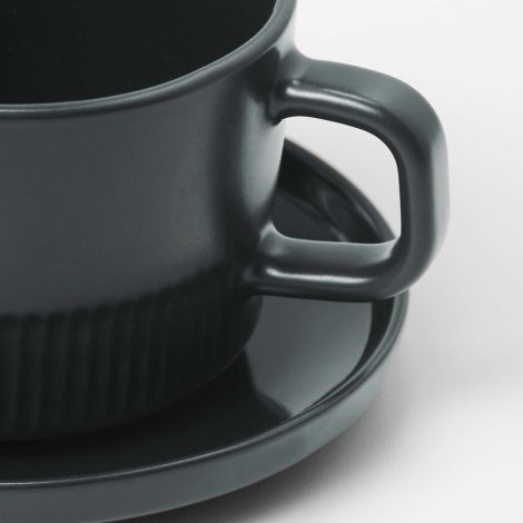 Marc O'Polo Tasse mit Unterteller Moments Anthracite