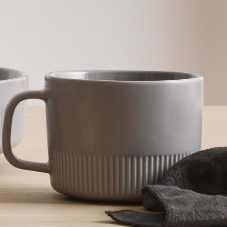 Marc O'Polo Tasse mit Unterteller Moments Soft Grey