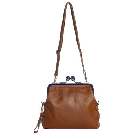 Sticks and Stones Ledertasche Monaco Cognac Washed
