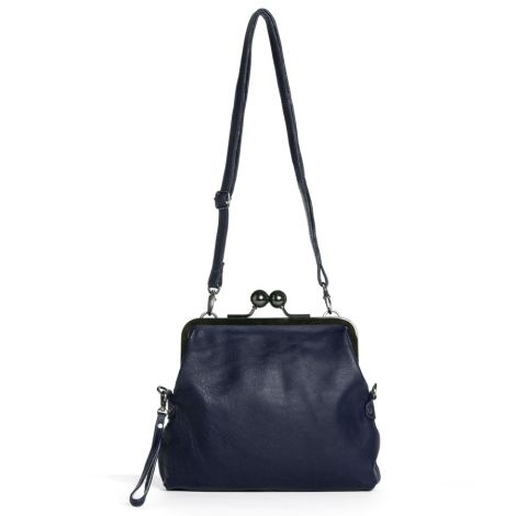 Sticks and Stones Ledertasche Monaco Midnight Blue Washed