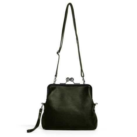 Sticks and Stones Ledertasche Monaco Dark Olive •