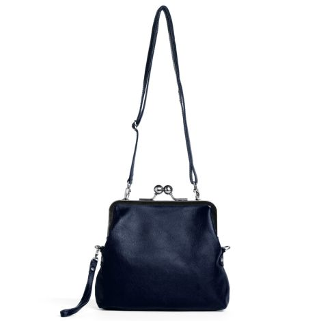 Sticks and Stones Ledertasche Monaco Navy Blue