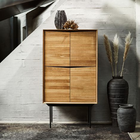 MUUBS Highboard Schrank Wing Natural Oil