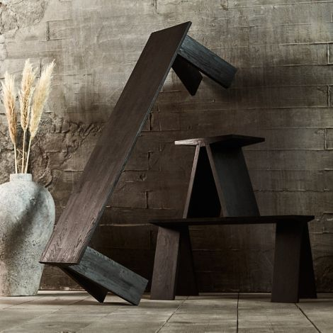 MUUBS Esstisch Angle Black stained Oil