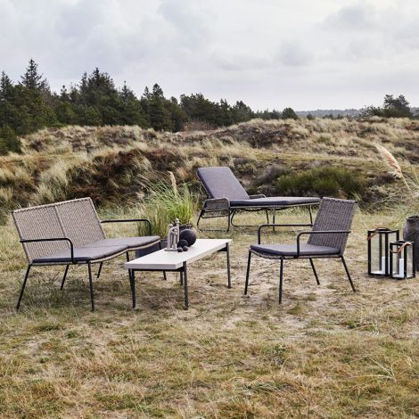 MUUBS Sonnenliege Riva Outdoor Walnut/Black
