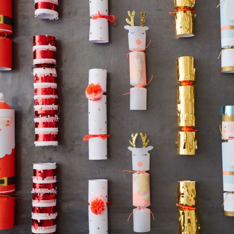 Meri Meri Knallbonbons Weihnachtsmann Rentier 6er-Set