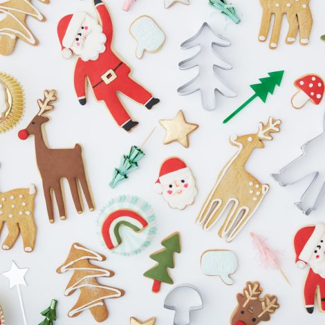 Meri Meri Mini-Ausstechformen Weihnachtsmotive 7er-Set