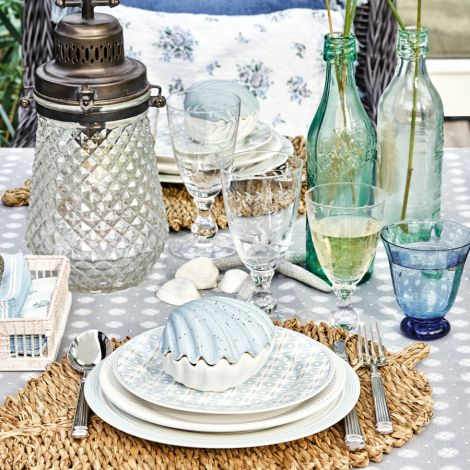 GreenGate Stoffserviette Tova Pale Blue