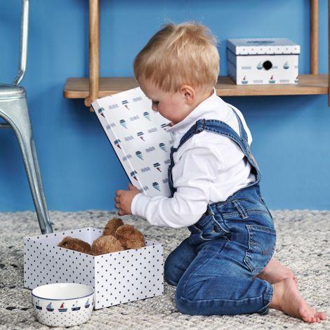 GreenGate Schüssel für Kinder Noah Blue