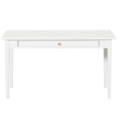 Oliver Furniture Junior Schreibtisch mit Lederband Weiß, H64cm