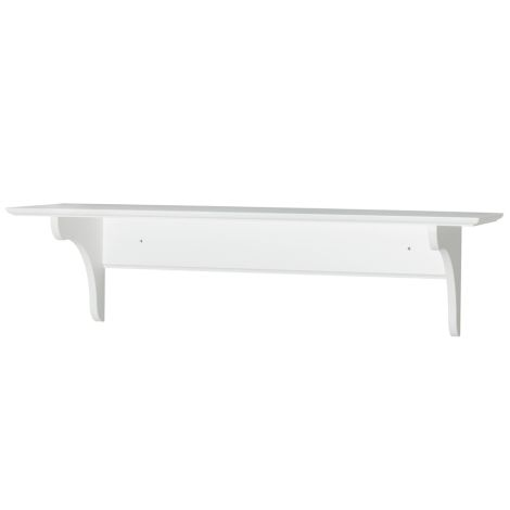 Oliver Furniture  Wandregal Tief Weiß 28x90cm