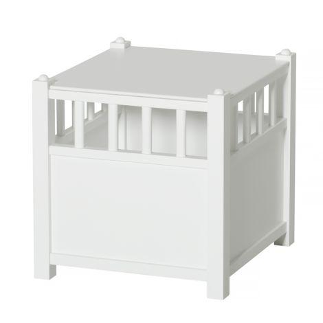 Oliver Furniture Aufbewahrungskasten Cube inkl. Deckel Weiß