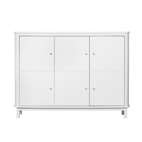 Oliver Furniture Wood Multi-Schrank 3 Türig Weiß