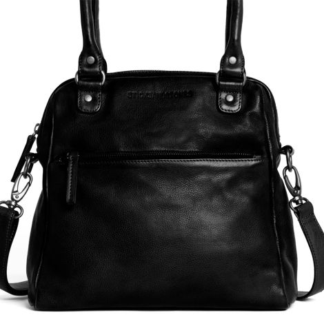 Sticks and Stones Ledertasche Orleans Black