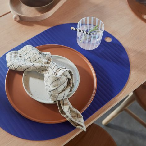 OYOY Ribbo Platzset Optic Blue 2er-Set