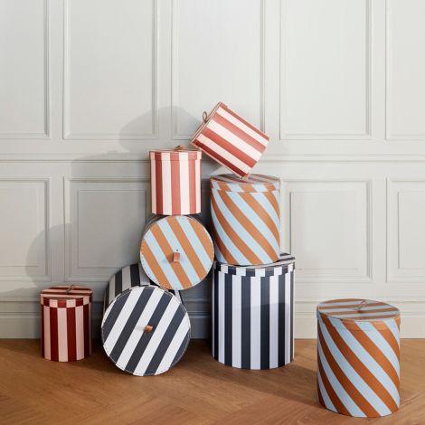 OYOY Aufbewahrungsbox Round Stripe Multi 3er-Set