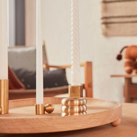 OYOY Palloa Kerzenhalter High Brushed Brass