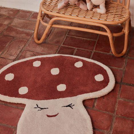 OYOY Malle Mushroom Teppich Red