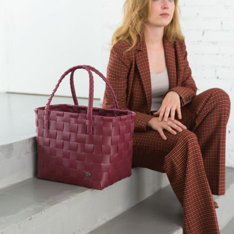 Handed By Shopper Tasche Paris Burgundy S
