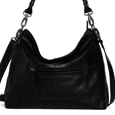 Sticks and Stones Ledertasche Paris Black Washed •