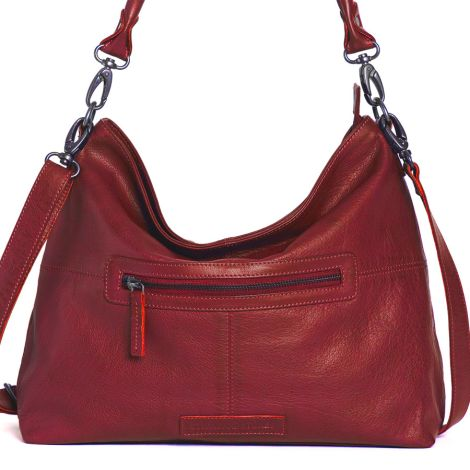 Sticks and Stones Ledertasche Paris Cherry Red Washed •